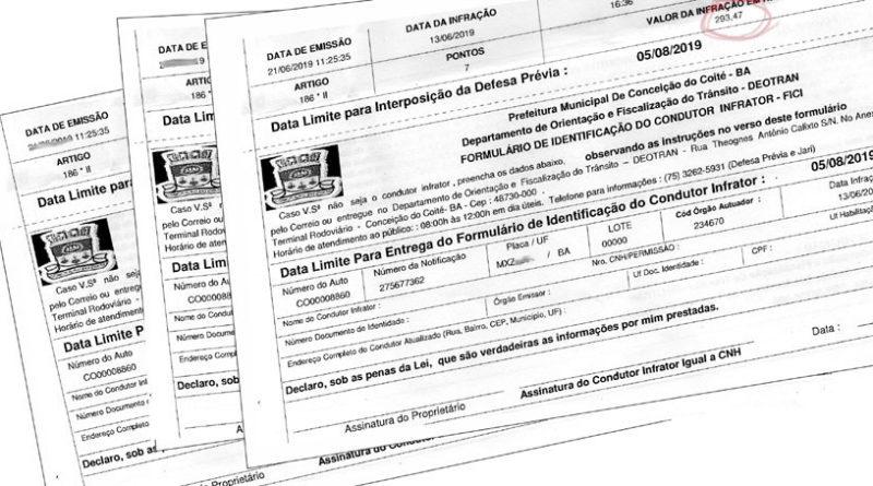 Indústria de multa de transito em Coité, mas só para adversários do prefeito.