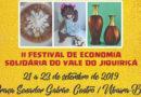 2º Festival de Economia Solidária do Vale em Ubaíra, mais de 30 cidades irão participar.