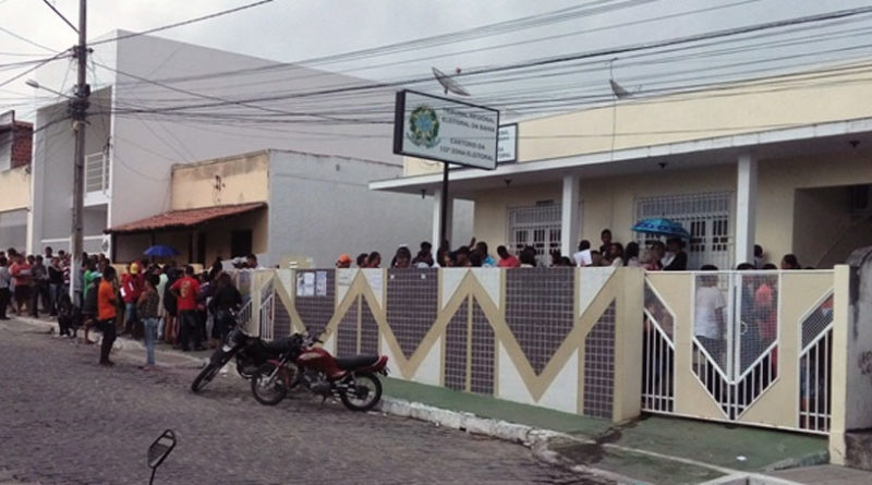 Mutirão biométrico no Cartório Eleitoral de Coité