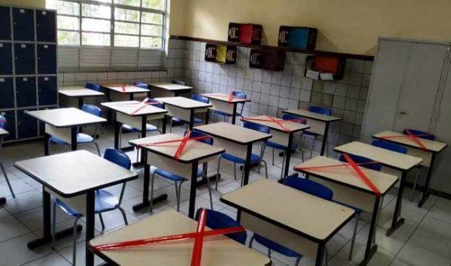 Salas prontas mas, os alunos foram impedidos  - Foto Raimundo Mascarenhas